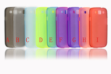 Colorful ultrathin clear crystal PC cover for Samsung Galaxy S3 i9300