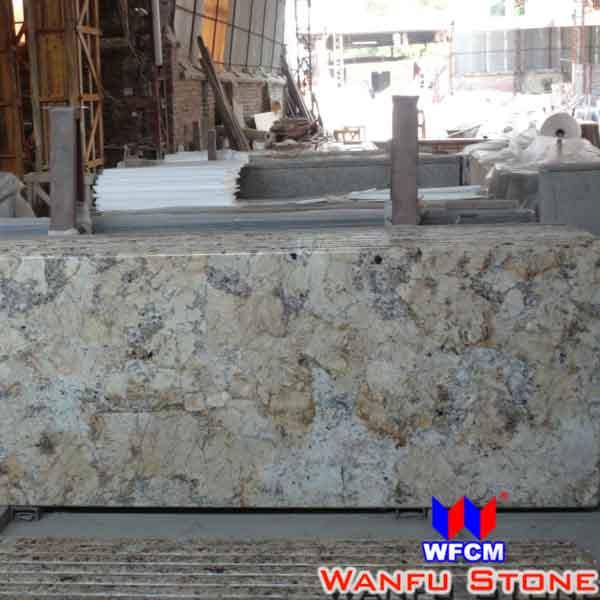Keuken natuursteen graniet austin goud werkblad werkbladen ijdelheid tops tafelbladen product - Prijs graniet werkblad ...