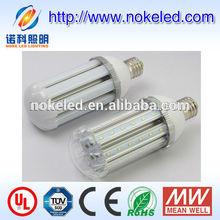 Aluminum heat sink and milky or transparent PC e40 e27 30 watt led corn lamp
