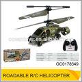 Infravermelho roadable rc helicóptero com giroscópio 3.5ch vôo de rc brinquedo do carro oc0178349