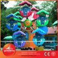 Colorato bambini gioco attrazioni nel parco, carino miniture ruota panoramica con 20 seggiolini per bambini divertente