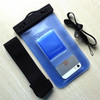 Cheap Price Boating waterproof cover with armband 10 meters waterproof with IPX8 (Transparent Blue )