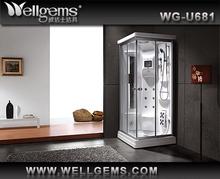 fashional!!!&6mm toughened glass&blue glass back&aluminum frame shower room,shower cabin,steam room