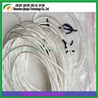 Most Favorable Price With Booming business in USA Ekowool Vaporizer 2.5mm twisted silica rope,high silica wick from Qiuqiu