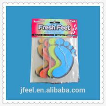 4 PC foots paper car air freshener,custom car paper air freshener for promotion