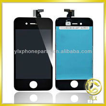 YLX Leading market price for iPhone 4 LCD digitizer assembly with flex cable/dust mesh/bezel/camera lens