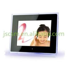HD digital acrylic foto frame 12'' inch multifunction video/music/photo wholesale