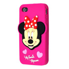 Hot selling 3D Girls pink painting silicone cell phone case for iphone 5s cover