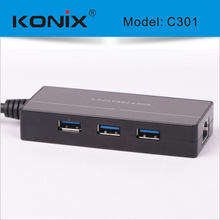 high speed usb 3.0 3-port hub driver with 1 1000Mbps nic