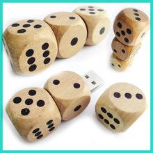 new arrival.dice shape usb flash drive,environmental wood usb flash drive,wood usb,laser logo printing wood usb flash drive