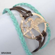 NEW Hunger Games Inspired Mockingjay Braided Bracelet - Brown& Blue