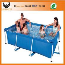 Rectangular indoor or outdoor above ground swimming pools