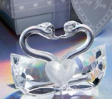 crystal swan shape wedding favor gift crystal craft