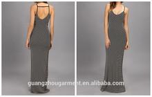 OEM New Show Thin Pinstripes Summer Women Maxi Dress