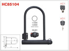 Bike U-Lock,U Lock,Shackle Lock HC85104