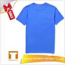 100% cotton blank pocket t shirt wholesale supplier/men pocket t shirt manufacturer