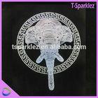 Elephants animal simple design rhinestone applique beaded motif