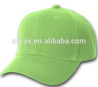 2014 Newest fashion 100% cotton twill hemp baseball cap blank 6 panels structured