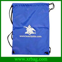Customized reusable durable fold up polyester drawstring bag