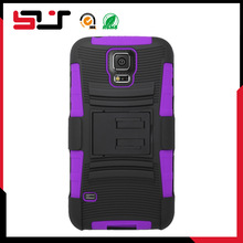Combo newest 2014 hard silicone rubberized shockproof holster case for samsung s5