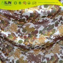 DTY knitted fabric 4 way stretch fabric printed milk silk