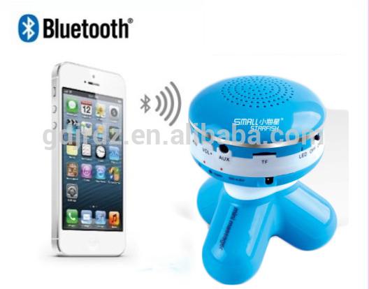 hot selling mp3 bluetooth speaker massager vibration massage