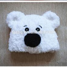 hand made crochet baby animal fleece hat