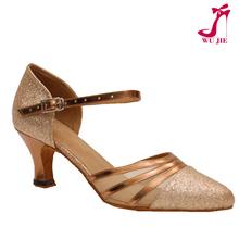 golden Sparkle dance shoes ballroom MD-2012