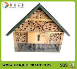 2013 wholesale high quality wooden insect house with green roof