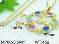 made in china colourfly farfalla e hanno pietra pakistani gioielli in oro set