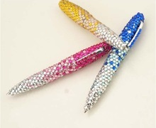 45 colors Available 100% handmade wholesale Fashion 10.5cm twist diamond pen cute gift pen