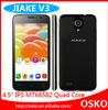 JIAKE V3 MTK6582 1.3G 1gb ram/8gb rom quad core smart phone 2.0M + 5.0M dual camera