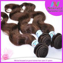 Wholesale virgin brazilian 4# color chocolate hair beauty