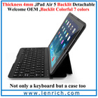 LBK206 Air Kee F6S Backlit Slide-out Mini Detachable Magnet Keyboard Case Mini Aluminum Bluetooth Keyboard For ipad air 5
