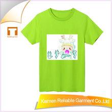 Hot!2015fashion summer kids cotton plain green t-shirt