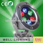 6w led underwater fountain light ,Good Quality 12V led lighting RGB/Warmwhite/White/Neturalwhite,2 Years Warranty