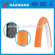 "Chinese Orange Bicycle Tires 24""X1.5"