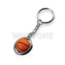 Rotated Metal Key Chains for Basketball Design