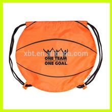 Basketball shaped drawstring backpack/Basketball Sports bag
