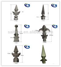 16 & 19 mm ornamental Aluminium fence accessories spearhead