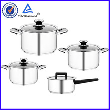 18/10 stainless steel super capsule bottom 7pc cookware set