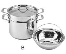 SA-12075B 2014 NEW Stainless Steel Pasta pot set / Italian Pasta set / Steamer Set