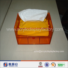 Alimentazione produttore di modo di vendita calda tovagliolo acrilico& scatola del tessuto