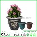 Jardim decoração de plástico vasos de flores e plantio