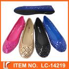 cheap laser cut shining ladies fashion shoes