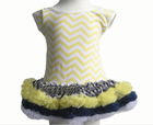 wave stripe short sleeve high quality soft cotton ruffles baby girls' cute lovely fashionable dresses
