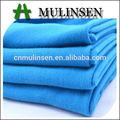 mulinsen têxtil céu azul corante sólido poli fiado de confecção de malhas grossas single jersey tecido de composição