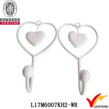 rustic double heart wholesale cast iron coat hooks