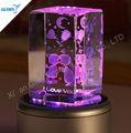Tema d'amore design trasparente di cristallo di music box