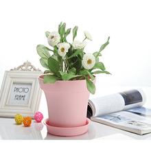 Garden Decorative plastic bucket for flowers